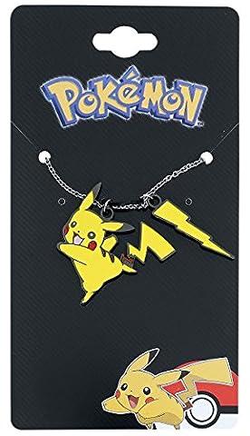 Bijou chaîne Pokemon Pikachu éclair pendentif acier affiné