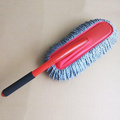 AMYMGLL productos de limpieza de coches a largo manejan la cera del coche del coche Cepillo con suministros de mantenimiento de cera Shan ultra-fina fibra de lavado de coches coche de la fregona