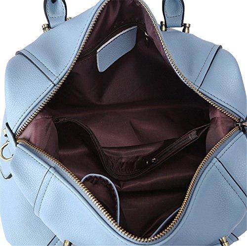 Xinmaoyuan Borse donna in pelle Sacchetto a cuscino Borsetta tracolla pacchetto diagonale Blue