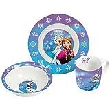 Disney 12788 Frozen Porzellanset, mehrfarbig, 22,5 x 9,5 x 19,5 cm, 3 Einheiten