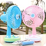 #5: Mini Table Fan Free Angle Adjustment USB Rechargeable Fan By Stvin