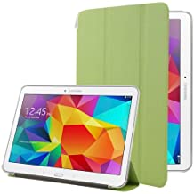 Frosted Texture Flip Leather + Transparent Trosted Plastic Funda Case Carcasa + lápiz capacitivo (Incluye con Holder para Samsun Galaxy Tab 4 10.1/SM-T530 (Green)