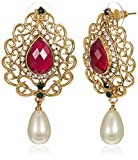 Ava Drop Earrings for Women (Golden) (E-...