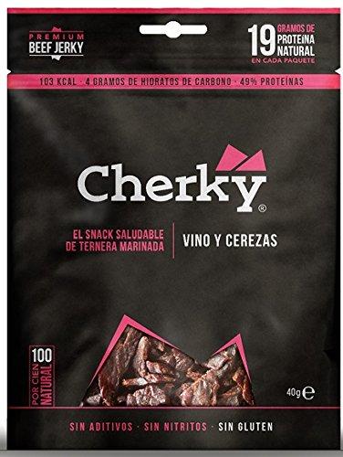 Cherky - Jerky Vino y Cerezas 40 gr.