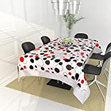 #5: The Intellect Bazaar PVC Table Cover for 4 Seater (40*60 inches), White