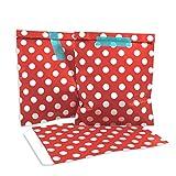 100 Frau Wundervoll Papiertüten - rot mit weißen Punkten - (Vorteilsmenge) / Geschenktüten / Candy Paper Bags