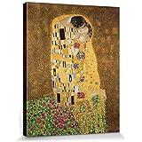 Gustav Klimt - El Beso II Cuadro, Lienzo Montado Sobre Bastidor (50 x 40cm)