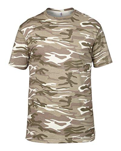 Artdiktat Herren T-Shirt Camouflage Tarndruck, Größe XXL, beige (Usa Paintball-pistolen)