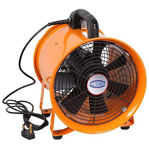 Dust Extractor Fan : Powerstar portable ventilation axial blower workshop dust