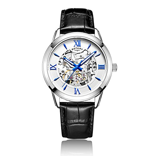 Rotary-Mens-Automatic-Watch-with-Silver-Dial-Analogue-Display-and-Black-Leather-Strap-GS0065121