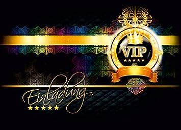 Einladungskarten VIP   Postkarten Einladung Zur VIP Party   VIP Geburtstag  Erwachsene / Jugendliche   Einladungskarten