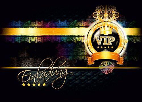 ladungskarten - Postkarten Einladung zur VIP Party - VIP Geburtstag Erwachsene / Jugendliche - Einladungskarten ausgefallen (20 Stück) ()