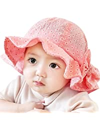 822fde2048f Crazy-Store Sun Cap Summer Outdoor Baby Girl Hats Sun Beach Bucket Hat(Red