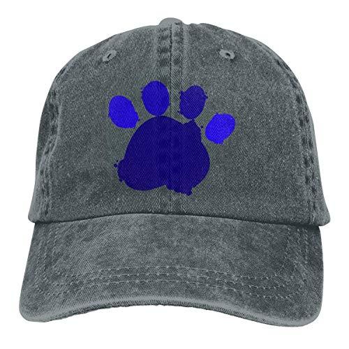 Presock Dog Footprint Paw Cowboy Cap Unisex Adjustable Trucker Baseball Hat Deep ()