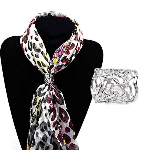 Milopon Schals Clip Ringe Form Schals Buckle überzogener Rose Schal Ring einfachen und modernen Design