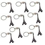Doitsa 10 Stück Schlüsselanhänger Auto Schlüssel Eiffelturm Form Anhänger Schlüsselbund Telefon handtasche Anhänger Bronze