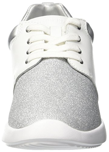 Lumberjack Tory, Sneakers basses femme Bianco (White/Silver)