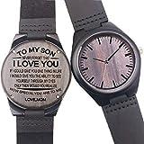 Nuevo Reloj de madera hecho a mano de cuarzo vendimia casual reloj de pulsera regalos (Hermosas Luna)