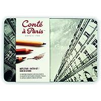 Conté à Paris - 12 Pastelli per ritratti e disegni, colori assortiti