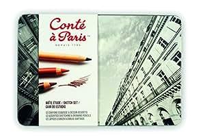 Conté à Paris 500402 Boîte de 12 Crayons esquisses Assorties