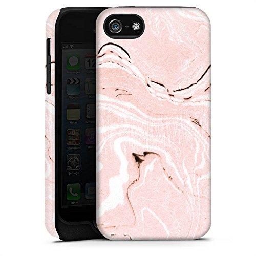 Apple iPhone X Silikon Hülle Case Schutzhülle Marmoriert Marmor Marble Tough Case matt