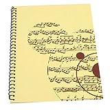 Bnineteenteam Libro de Papel del manuscrito Musical, 50 páginas en Blanco Cuaderno de partituras para músicos Papel del Personal(Oso Amarillo)