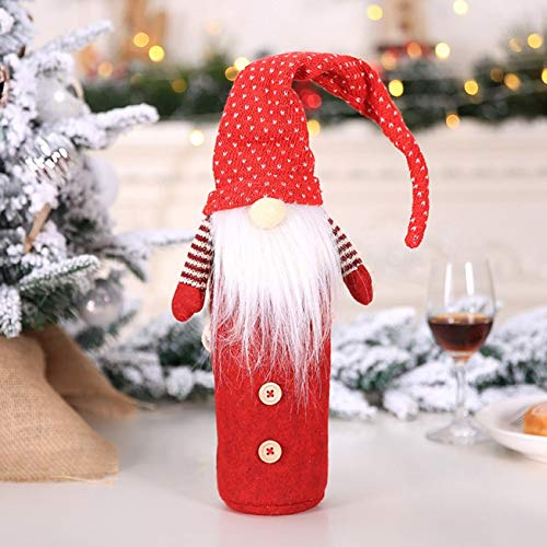 Ichangyi - Juego 1 Funda Botella Vino Navidad, decoración