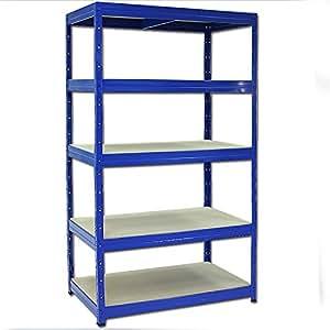 scaffalatura luana 175bm ripiano mensola 176 x 100 x 60 cm 5 ripiani scaffale metallo. Black Bedroom Furniture Sets. Home Design Ideas
