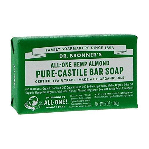 Dr Bronner'S | Almond Pure Castile Bar Soap | 6 x 140g -