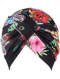 Fossrn Vintage Flores Gorro Sombrero Turbantes Pañuelos Cabeza Mujer para  Cancer Quimioterapia 9ad84f82250