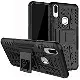 #6: DMG Vivo V9 Back Cover, Shockproof Armor Kickstand Case Hard Back Cover for Vivo V9 (Black Mesh)
