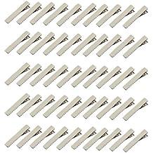 Mini-Haarklammern mit 1 Zacke und Zähnen, 50 Stück