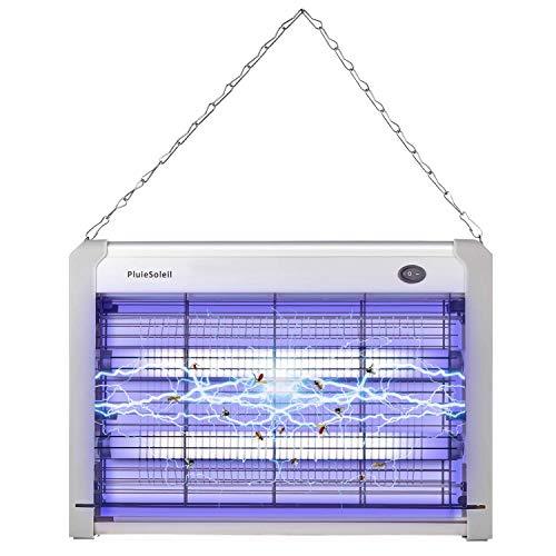 PluieSoleil Lámpara de Mosquitos Anti Mosquitos Electrico 20W Mosquito Killer Lámpara de Insectos contra Mosquitos, Polillas, Zancudos, Moscas, y mas Insectos (1 piezas)