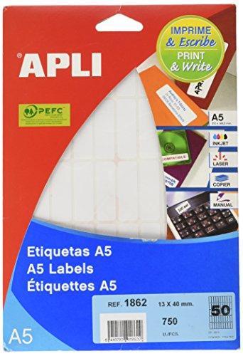 APLI 1862 - Etiquetas A5 blancas 13