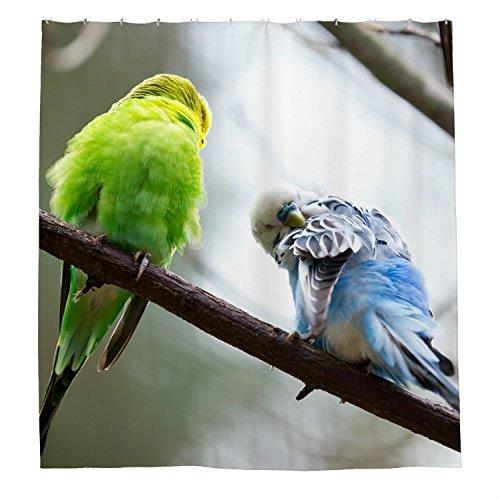 rioengnakg Zwei Lazy Birds Wasserdicht Polyester Duschvorhang, #1, 72