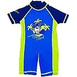 natubini Jungen Sonnenschutz Schwimm-Anzug -Piraten Commander, orig. aquabini Baby u. Kinder Swim Wear mit UV-Schutzfaktor UPF 50+ Badeeinteiler Surfanzug Größe 98