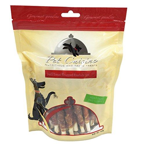 pet-cuisine-hundeleckerli-hundesnacks-welpen-kausnacks-entenbrust-rinderhaut-kaurollen-250g