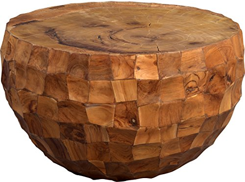 HomeTrends4You Earl Couchtisch, Holz, Braun, 70 x 70 x 44 cm