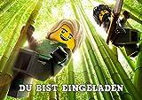 Lego Ninjago Einladungskarten 12er Set inkl. 12 Umschläge D1