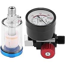 KIMISS Kit de Pistola de pulverización para automóvil, Medidor de Regulador de presión de Aire