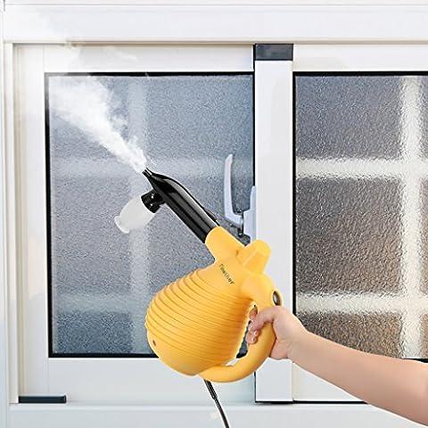 Finether Cleaner Nettoyeur Vapeur Jaune 1500W 640 ML Nettoyeur Vapeur