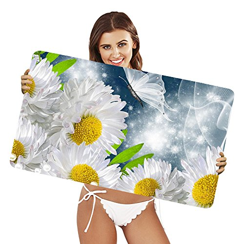XtremePads [ Gaming Mouse Pad grande tappetino ] - ( Artistic Flower Flowers Daisy White Flower Butterfly Sparkles ) - Sparkle Daisy