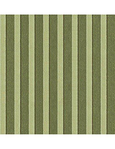 Polsterstoff Möbelstoff Bezugsstoff Meterware für Stühle, Eckbänke, etc. - Magic Design Grün Gestreift Baumwolle Schwer entflammbar- Muster