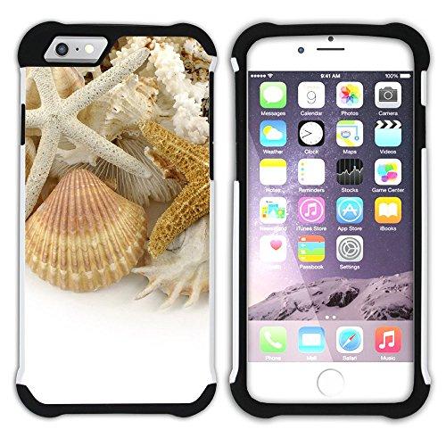 """Graphic4You """"Hello Summer"""" Seestern Sand Strand Hart + Weiche Kratzfeste Hülle Case Schale Tasche Schutzhülle für Apple iPhone 6 Plus / 6S Plus Design #7"""