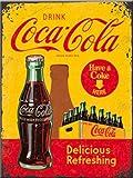 Coca Cola. Coca Cola botella. Comprar aquí, Have A Coke aquí. Delicious refrescante bebida. Anuncio. Ideal para casa, hogar, cocina, Bar, restaurante, café, café tienda o pub. Alimentos Y Bebidas. 3d metal/acero para la pared
