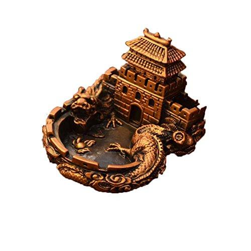 Black Temptation Cenicero del diseño del dragón del Estilo Chino para la decoración casera de la Mesa Regalos del Novio