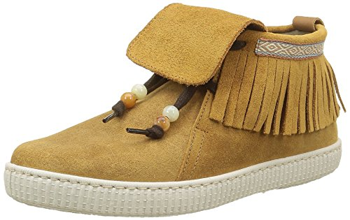 Victoria Botin Flecos Serraje, Desert Boots Femme Marron (Cuero)