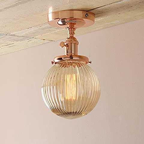 Pathson Industrial Vintage Modern Pendant Lights Flush Mount Edison Ceiling