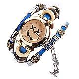 Ouneed® Uhren, Luxus-Marken-Weinlese-Armband-Uhr-Armbanduhr (Blau)