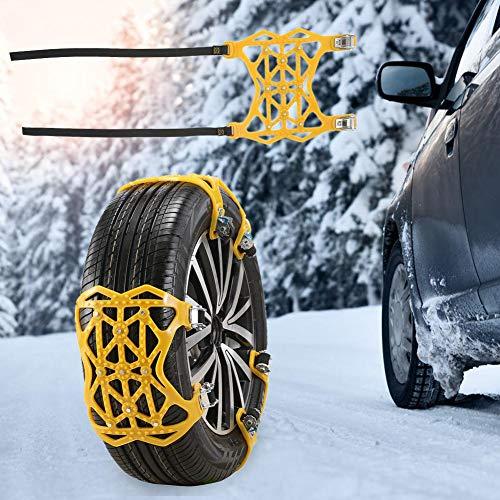 60cd39045b Chaîne à Neige, chaîne à Neige d'hiver pour pneus de motoneige  antidérapante Universelle